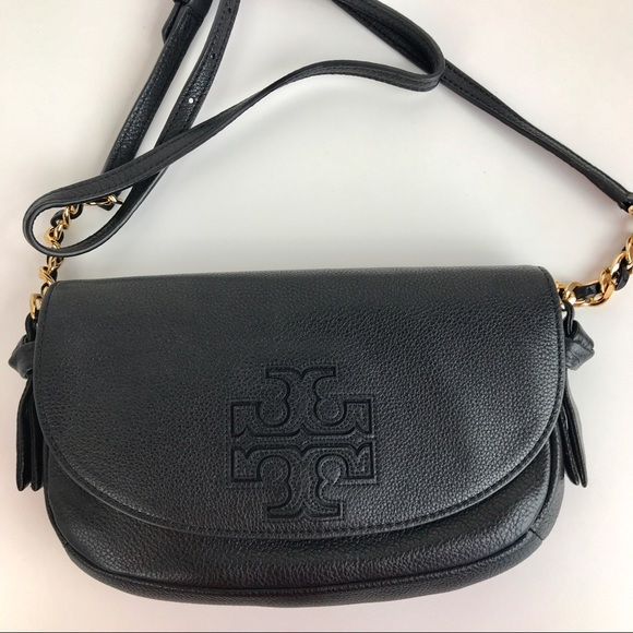 8827f617aeba Tory Burch Harper Black Leather Crossbody 34246. M 5ac40ac82c705d53a91b7e50